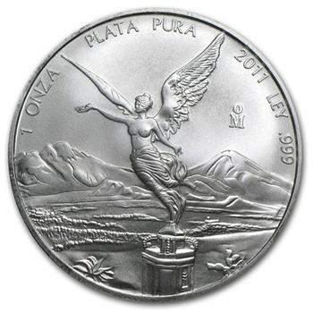 1 OZ. 2011 MEXICAN LIBERTAD SILVER COIN
