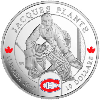 SALE - 2015 $10 FINE SILVER COIN - ORIGINAL SIX™ GOALIES - JACQUES PLANTE