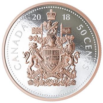 2018 5-OUNCE FINE SILVER COIN BIG COIN SERIES: 50-CENT COIN