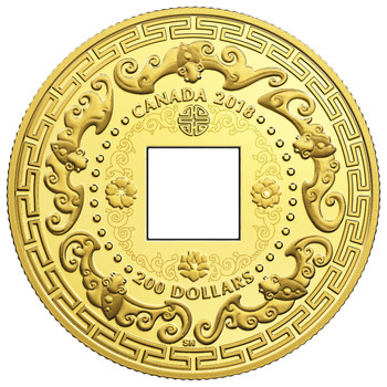 2018 $200 PURE GOLD COIN GOOD LUCK CHARMS – FIVE BLESSINGS