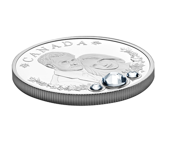 2018 $20 FINE SILVER COIN WITH SWAROVSKI® CRYSTALS - THE ROYAL WEDDING OF  PRINCE HARRY AND MS MEGHAN MARKLE
