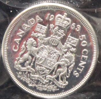 1963 CANADIAN 50-CENT ICCS PL-66 (HEAVY CAMEO)