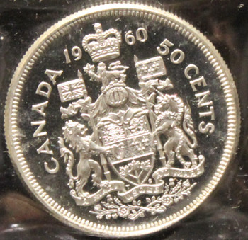 1960 CANADIAN 50-CENT ICCS PL-66 (HEAVY CAMEO)