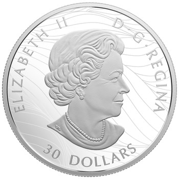 2018 $30 FINE SILVER COIN CANADIAN CANOPY: THE MAPLE LEAF