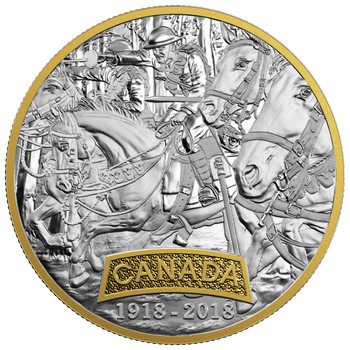 2018 $20 FINE SILVER COIN FIRST WORLD WAR ALLIED FORCES: CANADA