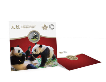2018 $8 FINE SILVER COIN THE PEACEFUL PANDA, A GIFT OF FRIENDSHIP