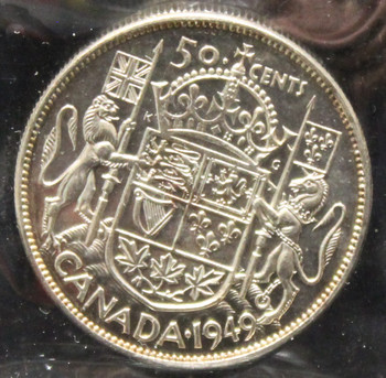 1949 CANADIAN FIFTY CENT ICCS MS - 62