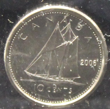 2006P CANADIAN TEN CENT ICCS MS-66