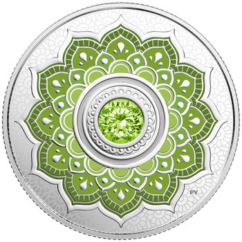 2018 $5 FINE SILVER COIN BIRTHSTONES: AUGUST