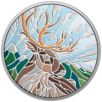 2018 $20 FINE SILVER COIN CANADIAN MOSAICS - CARIBOU