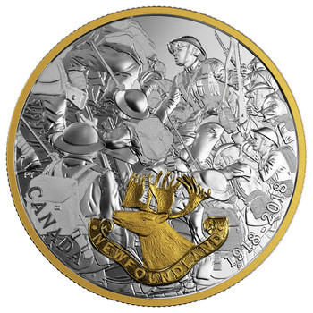 2018 $20 FINE SILVER COIN FIRST WORLD WAR ALLIED FORCES: NEWFOUNDLAND