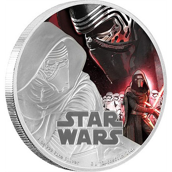STAR WARS: THE FORCE AWAKENS - 1 OZ FINE SILVER COIN - KYLO REN