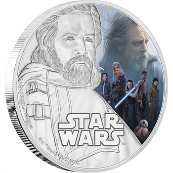 STAR WARS: THE LAST JEDI - 1 OZ FINE SILVER COIN - LUKE SKYWALKER