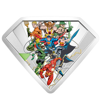 2018 $100 FINE SILVER COIN THE BRONZE AGE OF DC COMICS