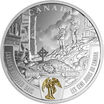 2018 $20 FINE SILVER COIN – FIRST WORLD WAR BATTLEFRONT SERIES – CANADA'S HUNDRED DAYS