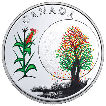 2018 $3 FINE SILVER COIN – THE THIRTEEN TEACHINGS FROM GRANDMOTHER MOON: CORN MOON