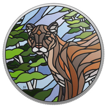 2018 $20 FINE SILVER COIN CANADIAN MOSAICS – COUGAR