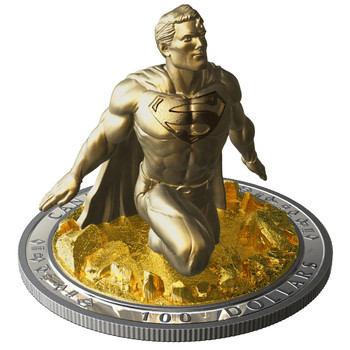 2018 $100 FINE SILVER SCULPTURE COIN SUPERMAN™: THE LAST SON OF KRYPTON