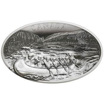 2018 $250 FINE SILVER COIN – THE VOYAGEURS