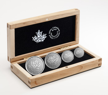 2018 PURE PLATINUM FRACTIONAL SET 30TH ANNIVERSARY OF THE PLATINUM MAPLE LEAF