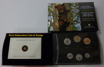 2013 6-COIN SPECIMEN SET - BLACK BEAR CUBS TOONIE