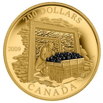 2009 $200 22-KARAT GOLD COIN - COAL MINING TRADE
