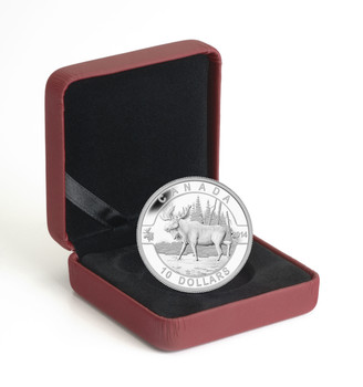 2014 $10 FINE SILVER COIN O CANADA - MOOSE