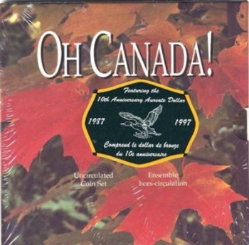 1997 OH CANADA SET WITH FLYING LOON DOLLAR