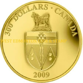 2009 $300 GOLD COIN - YUKON COAT OF ARMS