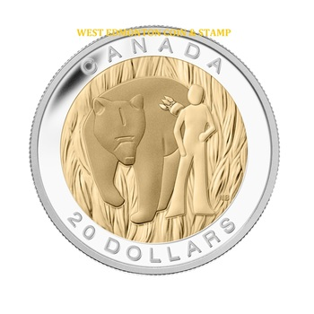 2014 $20 FINE SILVER COIN THE SEVEN SACRED TEACHINGS: COURAGE