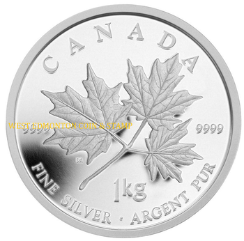 2011 $250 KILO SILVER COIN - MAPLE LEAF FOREVER