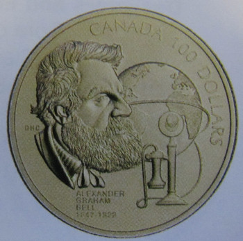 1997 14KT $100 150TH ANNIVERSARY - A.G. BELL'S BIRTH GOLD COIN