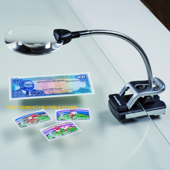 TABLE MAGNIFIER WITH ADJUSTABLE ARM, 2.5X MAGNIFICATION