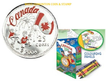 2006 25 CENT COLOURED CANADA DAY COIN