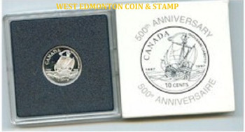 1997 10 CENT  PROOF SILVER COIN - JOHN CABOT DIME