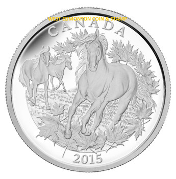 2015 $125 FINE SILVER COIN CANADIAN HORSE