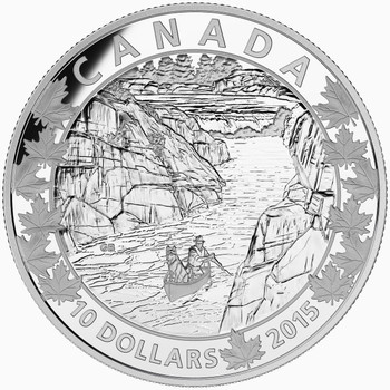 2015  $10 FINE SILVER COIN CANOE ACROSS CANADA: EXQUISITE ENDING