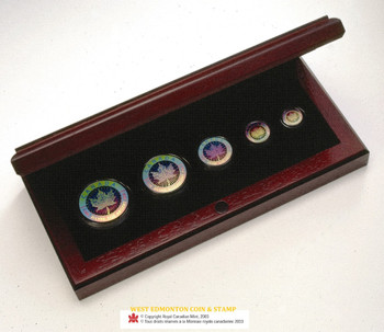 2003 HOLOGRAM FRACTIONAL SILVER MAPLE LEAF SET