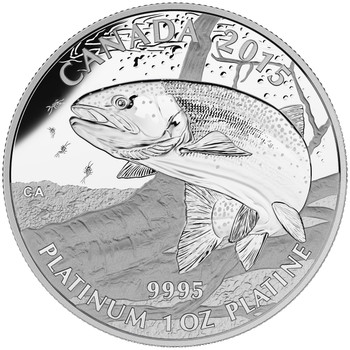 2015 $300 PLATINUM COIN - NORTH AMERICAN SPORTFISH: RAINBOW TROUT