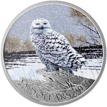 2016 $20 FINE SILVER COIN - MAJESTIC ANIMALS - SNOWY OWL