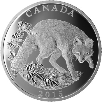 2015 $125 FINE SILVER COIN - CONSERVATION SERIES: THE GREY FOX