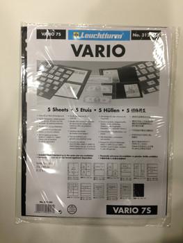 VARIO BLACK STAMP STOCKPAGES - FIVE SHEETS - SEVEN STRIPS