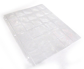 COIN & CURRENCY BINDER PAGE - 30 POCKETS
