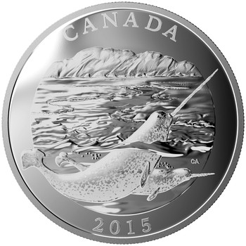 2015 $125 FINE SILVER COIN CONSERVATION SERIES: THE NARWHAL
