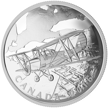 2016 $20 FINE SILVER COIN - THE CANADIAN HOME FRONT BRITISH COMMONWEALTH AIR TRAINING PLAN