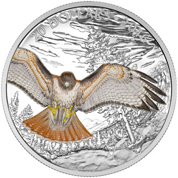 2016 $20 FINE SILVER COIN REGAL RED-TAILED HAWK