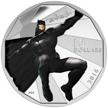2016 $10 FINE SILVER COIN BATMAN V SUPERMAN: DAWN OF JUSTICE™ - BATMAN™