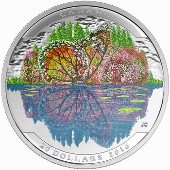 2016 $20 FINE SILVER COIN – LANDSCAPE ILLUSION BUTTERFLY