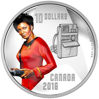 2016 $10 FINE SILVER COIN STAR TREK™: UHURA