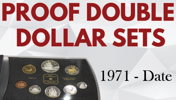 Canadian Proof Double Dollar Coin Sets